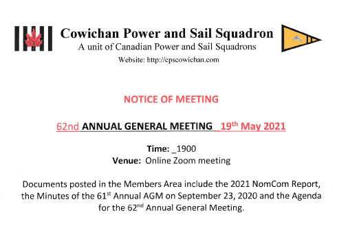 NOTICE OF MEETING